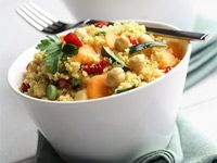 Food Day Canada recipes for Grains and Pastas making cooking Canadian easy. Join our culinary celebration of all things Canadian food- Lentil Risotto, Chickpea Pasta Salad, Wild Rice and Potato Pancakes with Corn Salsa, Couscous Recipes, Couscous Salad, Chickpea Recipes, Veggie Recipes, Pasta Recipes, Salad Recipes, Vegetarian Recipes, Canadian Food, Canadian Recipes