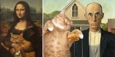 Russian Artist Inserts Her Fat Cat Into Iconic Paintings