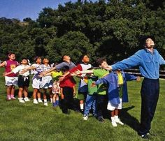 Michael Jackson at Neverland with his guests, inner-city children.