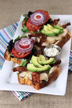 favorite. sandwich. ever. Bacon Avacado Chicken Club with Garlic Basil Mayo! www.mylifeasamrs.com