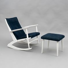 Great gift for vintage lovers. Vintage Armchairs – 1960s rocking chair with low couch – a unique product by Velvet-Point via en.DaWanda.com