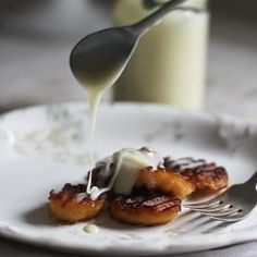Fried Plantains with Sweet Milk