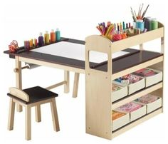 A compact, all-in-one art center desk.  A good handy man could build this with your special wants.
