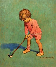 The Little Golfer by Jessie Willcox Smith