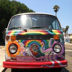 Go to the beach in a hippie VW Bus with a hippie gang of friends :)