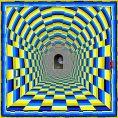 This static piece immediately draws you inside it, and at the same time produces a feeling you're flying right trough the tunnel!