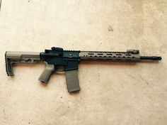 My personal Ruger AR556.  As far as I know, I'm the first person top put the UTG PRO super slim free float on the Ruger. Had zero issues with instal. Also has a mission first tactical (mft) minimalist stock, magpul grip, magpul rsa, mbus front sight, gen2 pmag tan, magpul bad lever, blackhawk rail cover, JP enhanced reliability trigger springs, mft gas block.