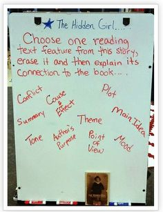 Great reading strategy to check for comprehension of text features!