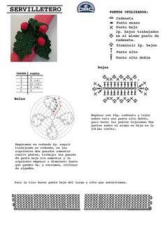 Crochet Xmas Ornament - Chart ❥ 4U // hf