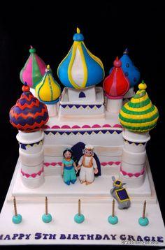 Jasmine and Aladdin Castle Cake