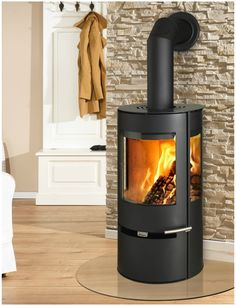 Aduro 9 DEFRA black wood burning stove with external air