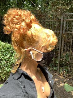 Baddie Hairstyles, Pretty Hairstyles, Hair Inspo, Hair Inspiration, Dreads, Curly Hair Styles, Natural Hair Styles, Dyed Natural Hair, Aesthetic Hair