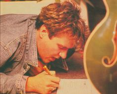 Simon Le Bon hard at work on lyrics for a new song that is sure to be a classic hit!
