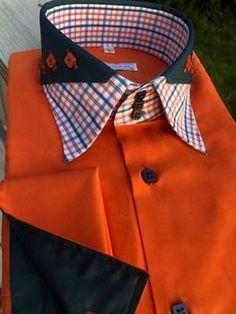 Shirt Collar Styles, Collar Shirts, Dress Shirt And Tie, Dress Shirts, African Men Fashion, Mens Fashion, Bespoke Shirts, Casual Shirts For Men, Fashion Details