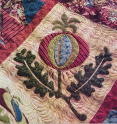 Quilt Patterns With Applique Flowers Baby Quilts With Applique Quilts With Applique Jacobean Elegance Detail Made By Lisa Debee Schiller 1800s Reproduction Fabric Wool Appliqueapplies Quiltshand