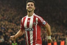 Shane Long celebrates after scoring the fourth goal for Southampton