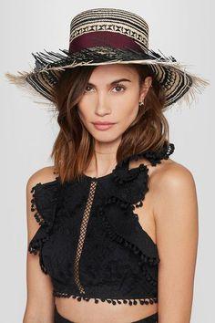 Sensi Studio - Colombia Frayed Toquilla Straw Panama Hat - Black - M