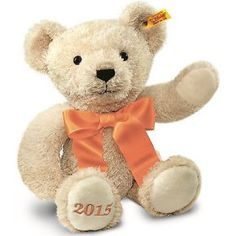 Steiff 2015 Year Cosy Cuddly Soft Cream Plush Teddy Bear 38cm 664625 Giftbox Opt