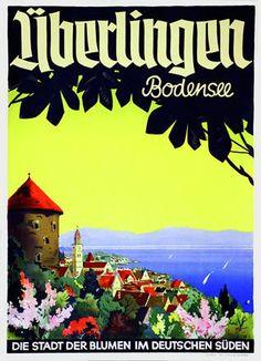 Überlingen am Bodensee. Die Stadt der Blumen im deutschen Süden. Carl Lipp. 1950.