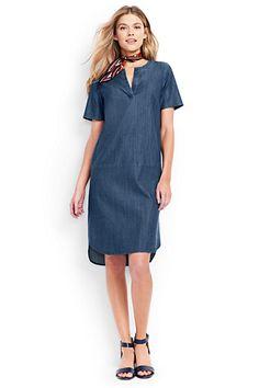 Women's Short Sleeve Tunic Dress