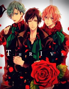 B-project Thrive Idk what's going on with Goshi's eye there but I love THRIVE none the less) Anime Chibi, Manga Anime, Anime Art, Hot Anime Guys, I Love Anime, Anime Music, Anime People, Ensemble Stars, Cute Faces