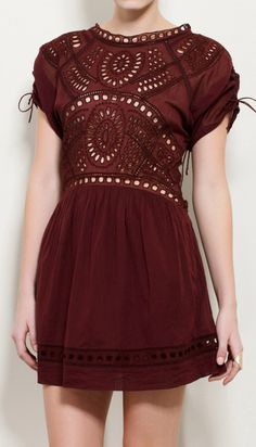 """Isabel Marant Étoile Burgundy Dress  """"just because it has my name in it..lol jk.. I think this dress is very unique and beautiful."""""""