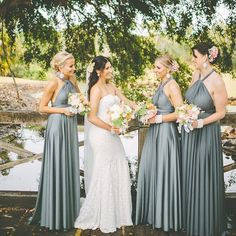 Dress your bridesmaids in something they can wear and love over and over again. This Platinum shade of the @goddessbynature Signature Multiway Collection is just so stunning. Each bridesmaid can wrap their dress differently so they can most importantly be comfortable while also looking beautiful! These dresses come in 48 different colours and various lengths. Have a look at www.goddessbynature.com .  #goddessbynature #bridesmaids #bridesmaiddresses #wedding #weddinginspiration #bridal