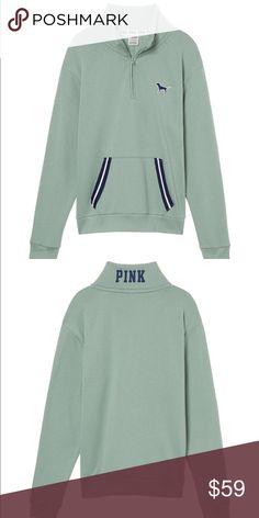 Large PINK Boyfriend Quarter Zip NWT PINK Victoria's Secret Sweaters