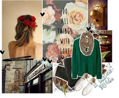"""Green-future color! : )"" by magic-789 ❤ liked on Polyvore"