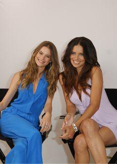 victorias-secretttt:  bombshell-fantasy:  Behati Prinsloo and Adriana Lima.