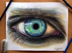 Hyperrealistic Color Pencil Drawings of Eyes - My Modern Metropolis