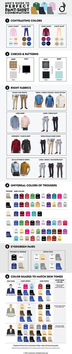 Perfect Pant Shirt Matching Guide for Men's Formal and Casual Look – Men's style, accessories, mens fashion trends 2020 Style Masculin, La Mode Masculine, Moda Casual, Men Formal, Formal Outfits For Men, Mens Formal Pants, Formal Shirts For Men, Men Style Tips, Men's Grooming