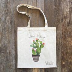 Cactus Wedding Tote