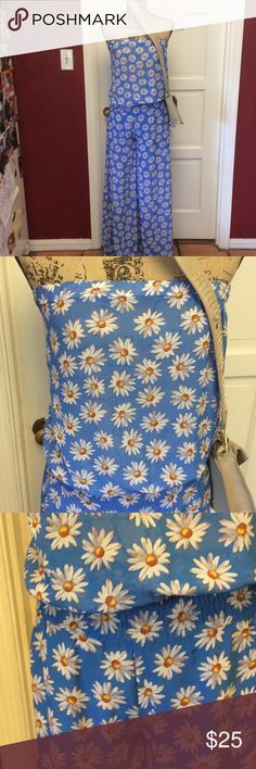 💐Blue floral sheer jumpsuit💐 Gorgeous floral sheer jumpsuit nwt has lining for the bottom but not the bust area - tube top style - gathers at waist then nice loose and flowy legs Nico LA Pants Jumpsuits & Rompers