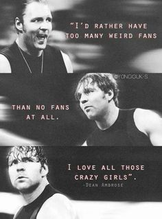 Really Dean??? I, I Mean We Love You To