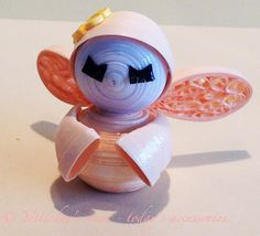 Quilling paper - pastel fairy by Yesterday's news - today's accessories Kid Character, Paper Quilling, Pretty Little, Fairy Tales, Diy And Crafts, Polymer Clay, Miniatures, Pastel, Christmas Ornaments