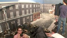 Absolutely Breathtaking! The 1:6 scale build-up of #10 Downing Street was an absolute masterpiece. It's a shame the film's script wasn't half as good as its sets. (Photo: Flatiron Film Co.) Click to enlarge.