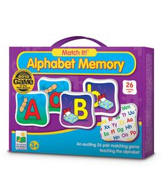 Another great find on #zulily! Alphabet Match It! Memory Game by The Learning Journey #zulilyfinds