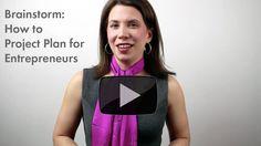 Project Plan: Brainstorming for Entrepreneurs