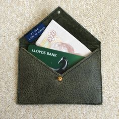 Slim Leather Wallet Leather Card Holder Business by ByLawLondon