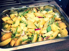 Bake those potatoes with herbs ;-)