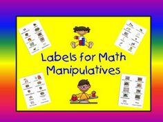 Cute labels for math manipulatives. Yay organization!