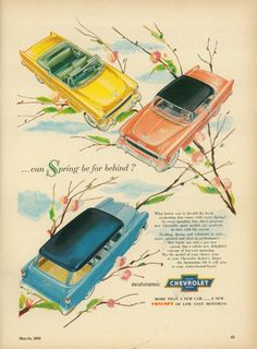 The new Chevrolet's for 1955 .... Belair, Wagon and Convertible