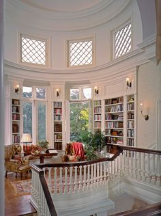 I love this room! I want interior design like this on my home. The room shape is amazing. And the windows are perfect! It feels royal! Villa Plan, Home Libraries, House Goals, Dream Rooms, Home Interior Design, Mansion Interior, Luxury Interior, Interior Paint, Kitchen Interior