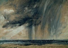 Rainstorm Over The Sea Painting by John Constable