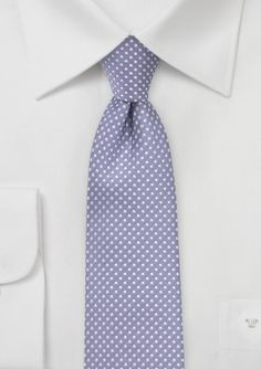 Lilac Polka Dot Patterned Tie