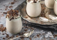 Panna Cotta, Ethnic Recipes, Desserts, Food, Recipes With Mascarpone, Whipped Cream, Cacao Powder, Dessert Ideas, Food And Drinks