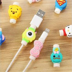 Cute Cartoon Usb Charger Cable Winder Protective Case Earphone Cord Sleeve Wire Cover Data Line Protector For Iphone 7 8 Plus Attractive And Durable Digital Cables Accessories & Parts
