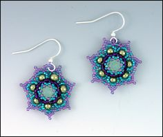 From Whim Beads-crystal lotus blossom earring pattern