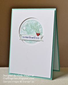 Stampin' Up ideas and supplies from Vicky at Crafting Clare's Paper Moments: Sending more love around the world